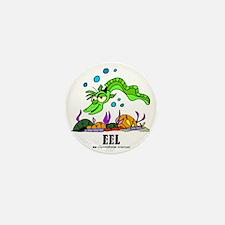Cartoon Eel by Lorenzo Mini Button