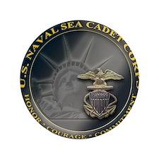 "Naval Sea Cadet Corps - Region 3-4 uni 3.5"" Button"