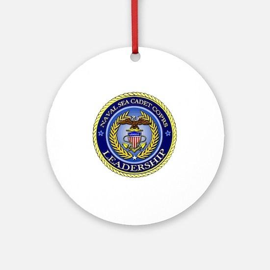 NAVAL SEA CADET CORPS - LEADERSHIP Round Ornament