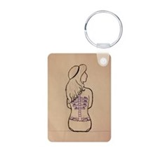 backless girl Keychains