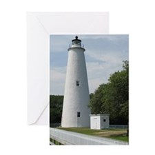 Ocracoke, North Carolina Lighthouse Greeting Card