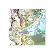 """Wings of Angels Amethyst Cr Square Sticker 3"""" x 3"""""""