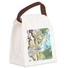Wings of Angels Amethyst Crystals Canvas Lunch Bag