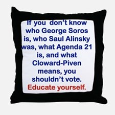 IF YOU DONT KNOW... Throw Pillow