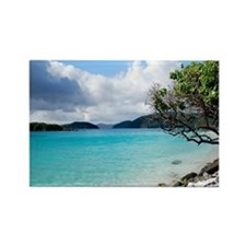 Cinnamon Bay, St. John VI Rectangle Magnet