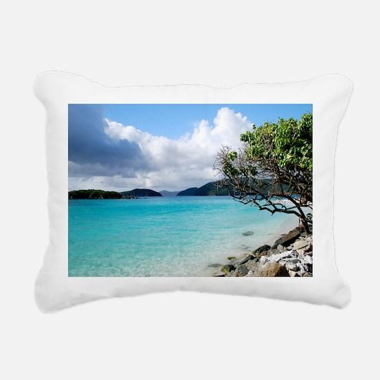 Cinnamon Bay, St. John V Rectangular Canvas Pillow