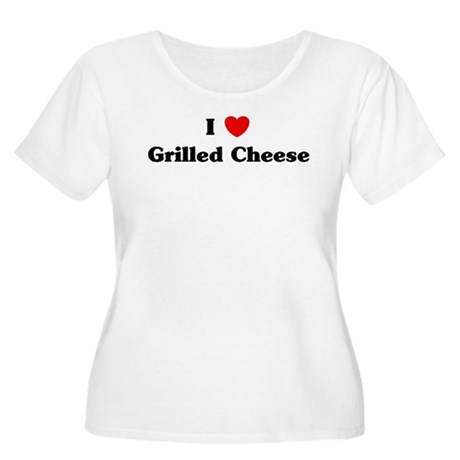 I love Grilled Cheese Women's Plus Size Scoop Neck