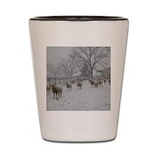 Wintery Snow Sheep Shot Glass