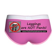 Leggings are NOT Pants Logo with Women's Boy Brief