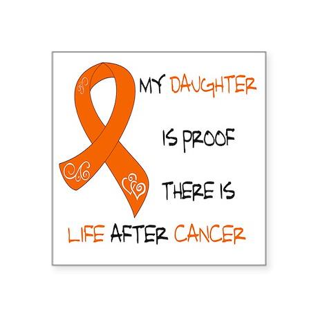 "orange daughter life Square Sticker 3"" x 3"""