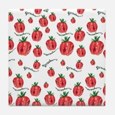 Soft Strawberries Tile Coaster