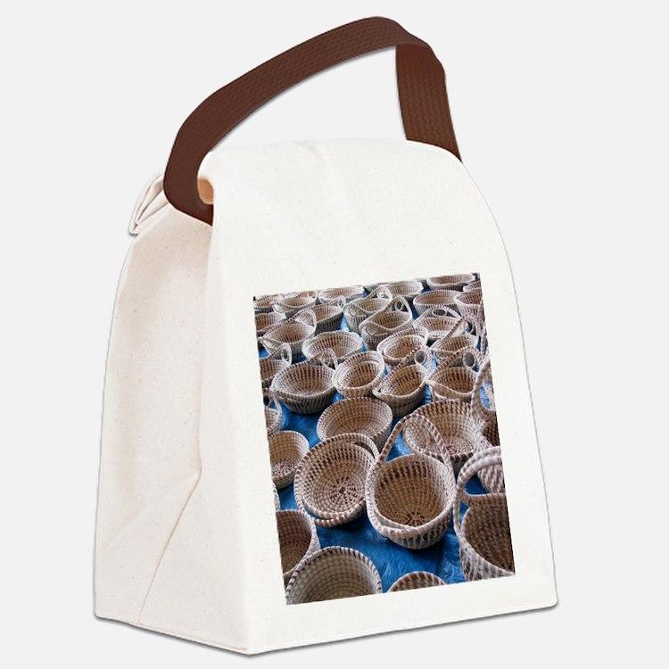 Charleston SC Sweetgrass Baskets Canvas Lunch Bag