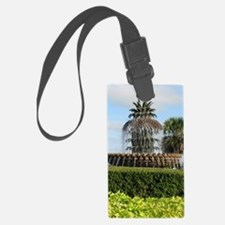 Charleston SC Pineapple Fountain Luggage Tag