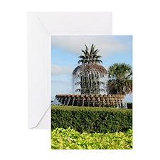 Charleston SC Pineapple Fountain Greeting Card