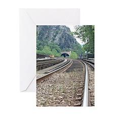 Harpers Ferry WV Railroad Tracks Greeting Card