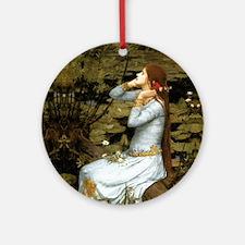 Waterhouse Ophelia Round Ornament