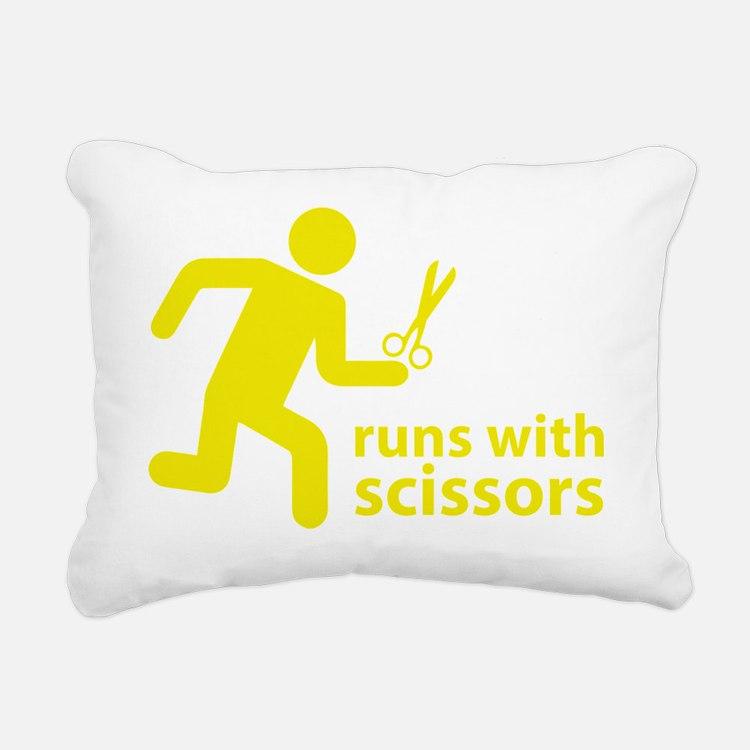 runninWithScissors5D Rectangular Canvas Pillow