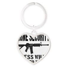 HOME SECURITY Guess What I Sleep Wi Heart Keychain