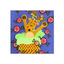 "Reindeer  Peppermints Square Sticker 3"" x 3"""