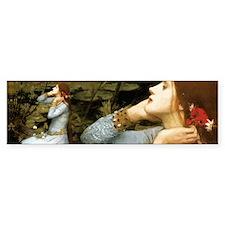 Waterhouse Ophelia Bumper Sticker