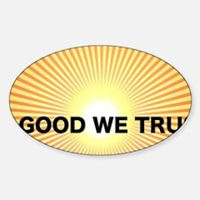 In Good We Trust front license Decal