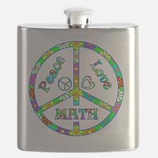 Peace Love Math Flask