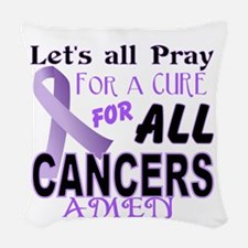 All Cancer Woven Throw Pillow