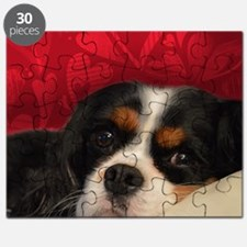 Tri-Color Cavalier King Charles Spaniel Puzzle