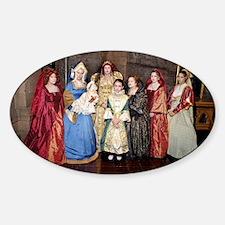 Her Majesty Elizabeth I with Ladies Sticker (Oval)