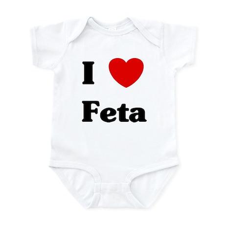 I love Feta Infant Bodysuit
