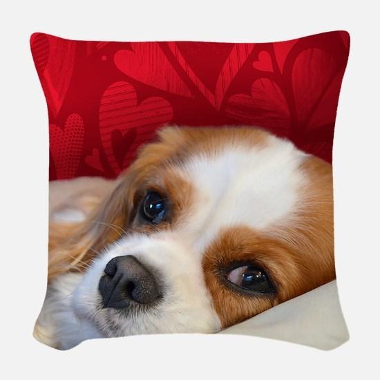 Blenheim Cavalier King Charles Woven Throw Pillow