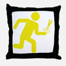 runninWithScissors1E Throw Pillow