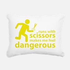 runninWithScissors6D Rectangular Canvas Pillow