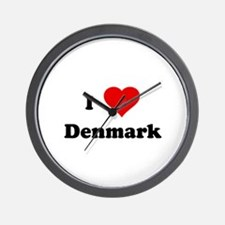 I Love Denmark Wall Clock