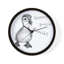 Duckling Quack, Baby Duck Wall Clock
