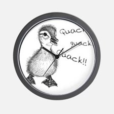 Duckling Quack, Baby Duck Wall Clock