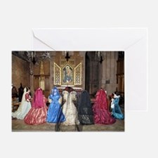 Her Majesty and Ladies at Prayer Greeting Card