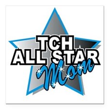 "TCH All Star Mom Square Car Magnet 3"" x 3"""