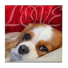 Cavalier King charles Spaniel Love Tile Coaster