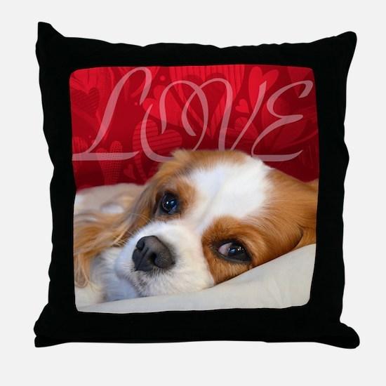 Cavalier King charles Spaniel Love Throw Pillow
