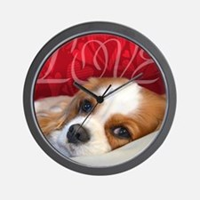 Cavalier King charles Spaniel Love Wall Clock