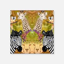"African Wildlife Square Sticker 3"" x 3"""