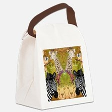 African Wildlife Canvas Lunch Bag
