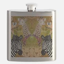 African Wildlife Flask