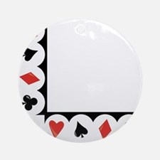 Playing Cards Corner Round Ornament