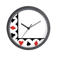 Playing Cards Corner Wall Clock
