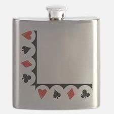 Playing Cards Corner Flask