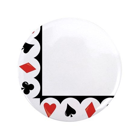 """Playing Cards Corner 3.5"""" Button"""