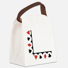 Playing Cards Corner Canvas Lunch Bag
