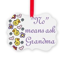 Ask Grandma Ornament